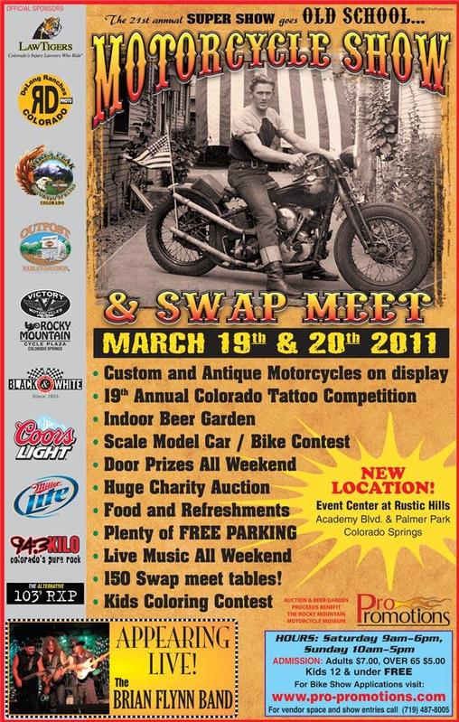 Motorcycle Super Show And Swap Meet Colorado Springs CO Mar - Old school car show colorado springs