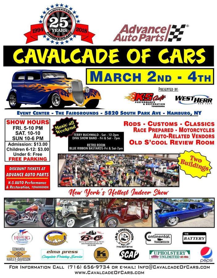 25th Annual Advance Auto Parts Cavalcade of Cars - Hamburg, NY - Mar ...