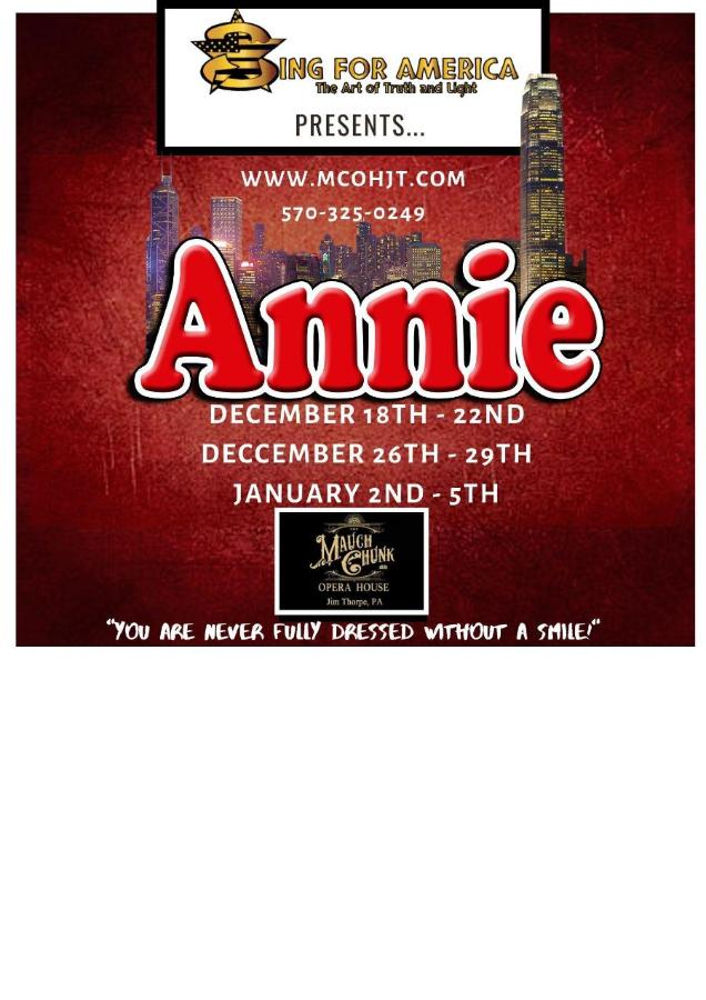 Auditions For Annie The Musical!!! - Bethlehem, PA - Sep 23, 2019
